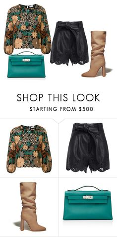 """Untitled #252"" by glamgurl32 ❤ liked on Polyvore featuring RED Valentino, Marissa Webb, Gianvito Rossi and Hermès"