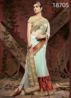 Indian Bollywood ethnique Saree Parti Porter Designer Sari