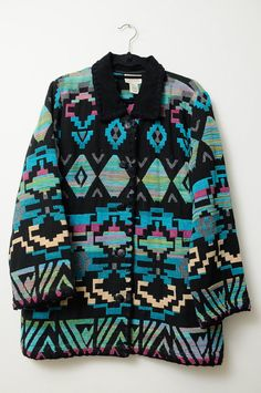 Awesome Vintage 80s/90s Colorful Tribal Aztec by LipstickDinosaur, $46.00