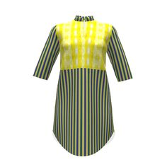 Named Clothing Helmi Tunic Dress made with Spoonflower designs on Sprout Patterns. I've used Jewel Stripe 18 from co-designer Sharon Holmin, aka shi_designs, to brighten up  my  blue & lime stripes.  Please make a copy and customize to arrange large print to preference on FLAT layout! This determines how project will print.