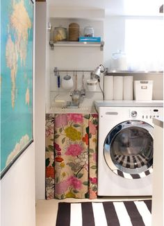 Instead of attempting to match the cupboard door to go in front of where dishwasher used to be, want to get a fabric curtain like this