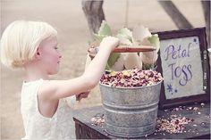 toss rose petals | CHECK OUT MORE IDEAS AT WEDDINGPINS.NET | #weddings #flowergirls #ringbearers