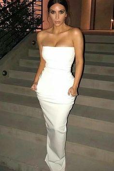 Kim Kardashian wearing  Rick Owens Strapless Gown