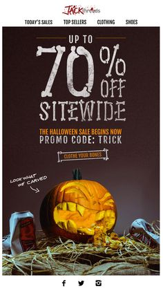 Check out our extensive guide to Halloween for retailers and email marketers, to add inspiration and increase impact of seasonal marketing campaigns. Halloween Sale, Halloween Design, Email Layout, Email Design Inspiration, Email Marketing Design, Jack Threads, Ads Creative, Web Design, Graphic Design