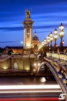 The Pont Alexandre III, Paris France
