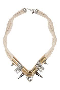 Noir rope necklace