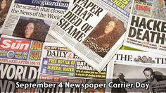 September 4 Newspaper Carrier Day