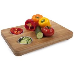 Core Bamboo Pro-Chef Butcher Block With 2 Prep Bowls, Multicolor