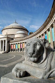 Piazza del Plebiscito - Naples, Campania, Italy