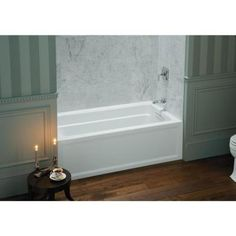 this is more realistic for space/budget  Kohler Archer 5' White. Deep soaking tub for standard size alcove.$488.00