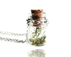 Make a Wish Nature Glass Bottle Vial Pendant Necklace   www.etsy.com/shop/wflead  www.etsy.com/shop/xiaostop