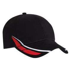 Code: 4155 Name: Frontier Cap 4155 Available Colours: Black/White/Red | Navy/White/Gold Description: Challenge the status quo with the Frontier cap and set your