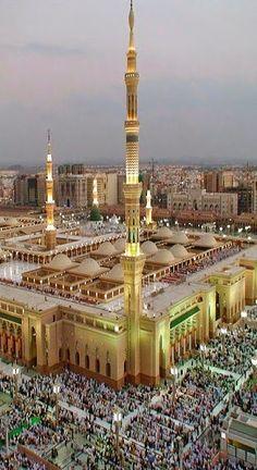 Hose of Allah Masjid Haram, Al Masjid An Nabawi, Mecca Masjid, Medina Mosque, Mekkah, Beautiful Mosques, Islamic World, Islamic Architecture, Islamic Pictures