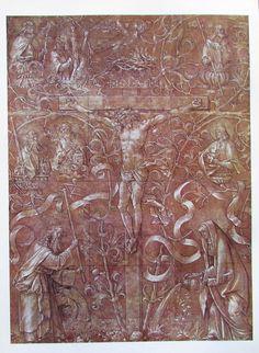 Albrecht Dürer KREUZIGUNG und DER HEILIGE HIERONYMUS IM GEHÄUSE 2 Reproduktionen Kunstdrucke Art Prints