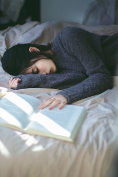 | sleeping + reading |