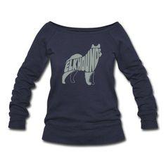 Norwegian Elkhound Dog Art Sweatshirt | Spreadshirt | ID: 12101987