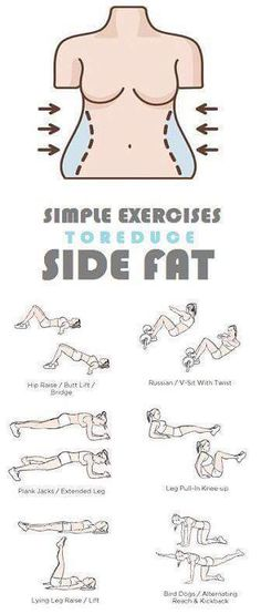 How to Get Rid of Side Fat and Love Handles Fast At Home. Try these Exercises for Side Fat Today and Lose 10 Pounds in 2 weeks. diet workout how to get Fitness Workouts, Fitness Diet, At Home Workouts, Fitness Motivation, Health Fitness, Yoga Fitness, Shape Fitness, Ab Workouts, Planet Fitness