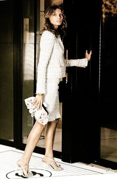 Chanel suit in white