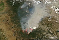 """The """"Rim Fire"""" in the western United States has expanded greatly after hitting Yosemite National Park, spreading in a massive blaze of over acres. Yosemite National Park, National Parks, Acre, United States, Earth, Google, Mother Goddess, World, The World"""