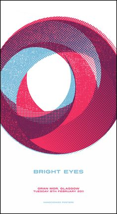 Bright Eyes screenprint design by Douglas Walker, Baseline on http://www.handcookedposters.com/index.php/posters/bright-eyes/