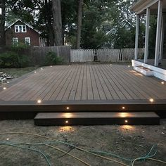 Deck Picture in Amityville, NY - Picture 7386 Backyard Patio Designs, Backyard Landscaping, Patio Ideas, Simple Deck Ideas, My Patio Design, Back Deck Ideas, Garden Decking Ideas, Backyard Deck Ideas On A Budget, Back Deck Designs