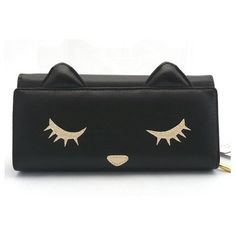 [cat wallet] the long wallet of the . Cat Wallet, Long Wallet, Purse Wallet, Black Wallet, Black Clutch, Crazy Cat Lady, Crazy Cats, My Bags, Purses And Bags