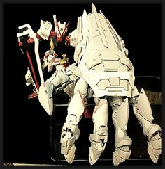GUNDAM GUY: Gundam Astray Red Frame w/ Gunpla Kit Bash Power Hand - Custom Build