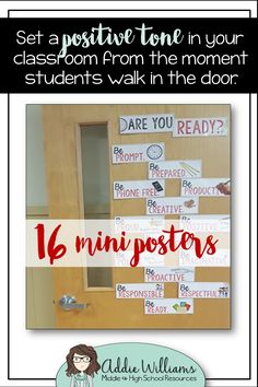 Are Your Students Ready? Back to school door decor for middle / high school students! ($)