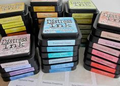 Great way to organize your Distress Ink. #avery