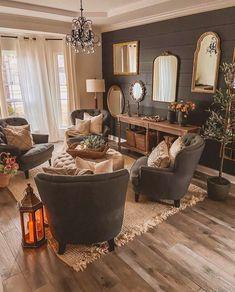 Cozy Living Rooms, Home Living Room, Living Room Designs, Living Room Decor, Living Room Interior, Home Interior, Interior Decorating, Interior Design, Bohemian Interior
