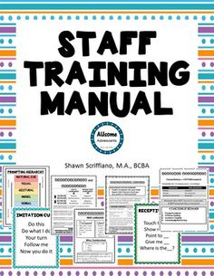 This is a huge training manual to be used with paraprofessionals or instructional staff in your special education classroom. As special education teachers, we all know how important it is to have skilled instructional staff in our rooms. Training the instructional staff in our