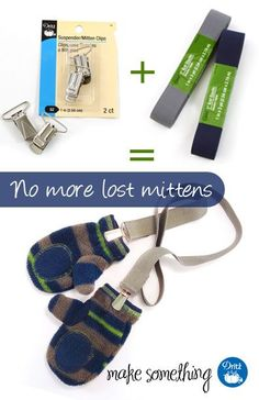 It's cold! Make some mitten clips and make sure your #kids keep their mittens! #Sewing Tutorial: Easy-sew Mitten Clips using Dritz elastic and hardware. #DIY
