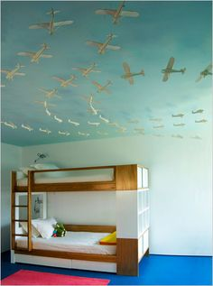 Ceiling covered in planes....for G's next room?