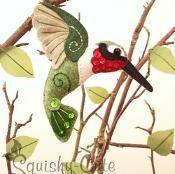 Felt Hummingbird Stuffed Animal Ornament - via @Craftsy