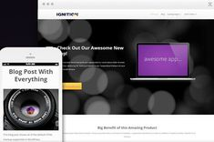 Ignition is a WordPress Theme being distributed by Thrive Themes. Ignition is a theme that's very well suited for building a marketing website -