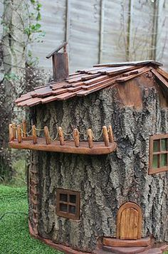 HandMade fairy houses made to order out of whole trees-Olliewood Fairy Houses, Great Britain