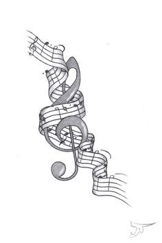Music art tattoo