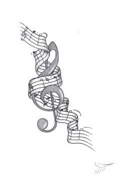 Music art tattoo