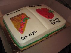 Very Hungry Caterpillar Baby shower cake Book Style