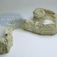 Ruban dentelle coton avec élastique 5cm