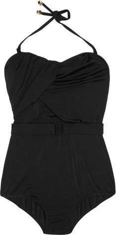 Zimmermann  Belted Ruched Bandeau Swimsuit