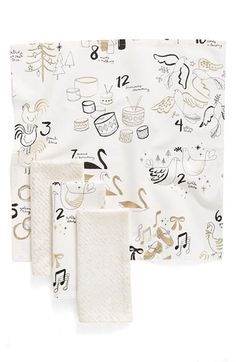 Nordstrom at Home Nordstrom at Home Twelve Days Set of 4 Napkins available at #Nordstrom