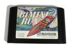 Sega Genesis Game Bimini Run Retro Video Game by Retro Videos, Retro Video Games, Sega Genesis Games, Sega Mega Drive, 16 Bit, Speed Boats, Videogames, My Etsy Shop, Boating