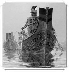 TLINGIT WAR CANOE