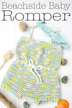 Beachside Baby Romper Free Crochet Pattern