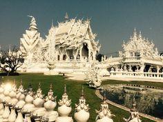 #whitetemple#tempiobianco#changmai#thailand