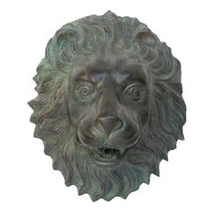 A timeless bronze sculpture, this piece of garden art adds a calming focal point combined with the peaceful sound of falling water. Reminiscent of European plaza architecture, this bronze sculpture is cast in the traditional lost wax method and finished with an emerald verde patina, which highlights the exceptionally fine detail of the regal lion's head and guarantees lasting beauty. Our Design Toscano beautiful bronze sculpture is architectural art and piped to optionally spout flowing w...