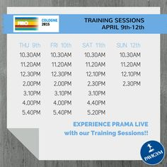 FIBO Cologne 2015 - Training Sessions APRIL 9th-12th. EXPERIENCE PRAMA LIVE !!