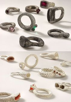 Rings that remind me of food, edition #72: sesame-crusted snacks, served up by Germany's Mirjam Hiller.