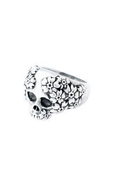 Sakura Skull Ring